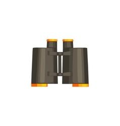 Pair Of Black Binoculars vector image