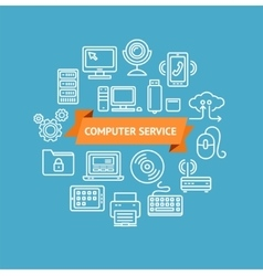 Computer Service Concept vector image vector image