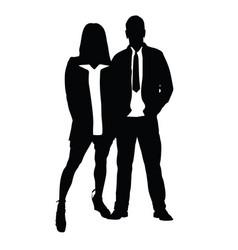 Couple silhouette in love romance vector