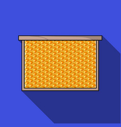 frame with honeycomb icon in flat style isolated vector image