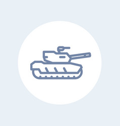 modern tank line icon isolated on white vector image vector image