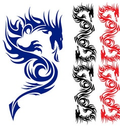 asian tattoo dragon vector image