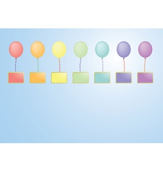 balloons with boards vector image