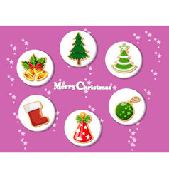 Christmas holiday dresses collection of icons 9 vector image