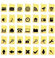 Collection of different icons vector image vector image