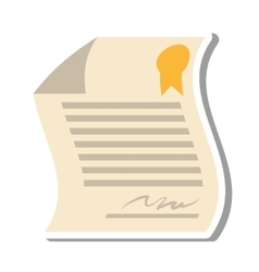 Contract paper document isolated icon vector