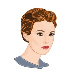 Girl with short hair vector image