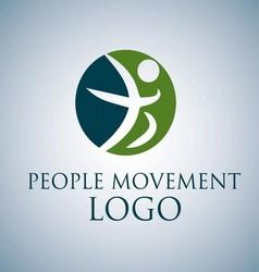 PEOPLE MOVEMENT LOGO 5 vector image