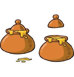 pot of honey vector image