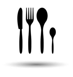 silverware set icon vector image vector image