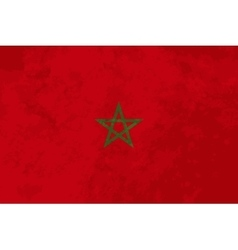 True proportions Morocco flag with texture vector image