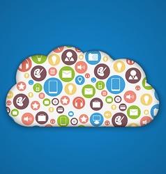 Cloud computing concept Modern design template vector image