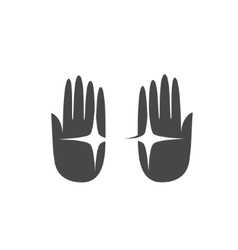 Hand palm logo vector image vector image