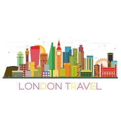 london skyline with color buildings vector image