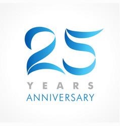 25 anniversary logo blue vector