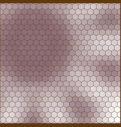 abstract hexagon grid shape of a flower vector image