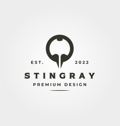 abstract stingray icon logo for business company vector image