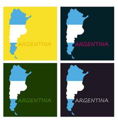 Argentina flag map vector