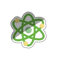 Atom molecule isolated vector