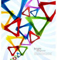 Background with triangles vector image
