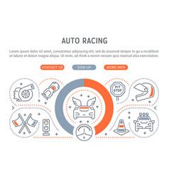 banner auto racing vector image