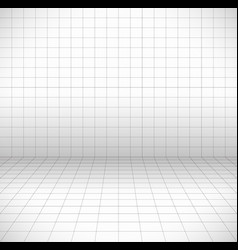 blank space with perspective grid wire frame vector image