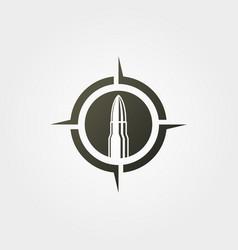 bullet on target icon logo vintage design vector image