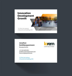 Business card template with many yellow vector