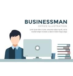 Businessman silhouette Business man work vector