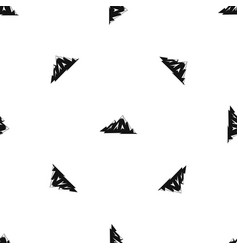 Canadian mountains pattern seamless black vector
