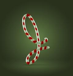 Candy cane abc J vector