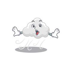 Cartoon design style cloudy windy has a vector