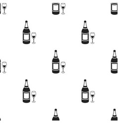 champagne icon in black style isolated on white vector image