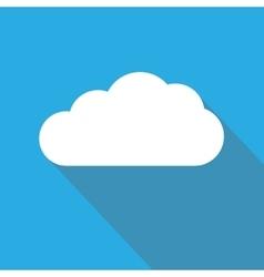 Cloud Flat Icon Cloud Shape Symbol vector image