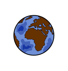 Color sketch earth vector