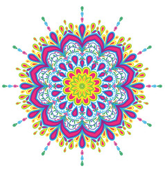 colorful mandala vintage decorations elements vector image
