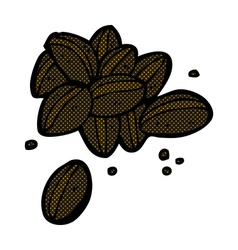 comic cartoon coffee beans vector image