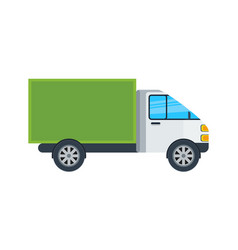 Commercial van isolated icon vector