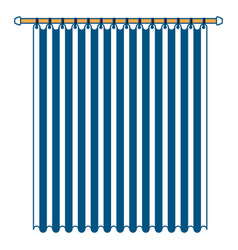 Curtain of room holding in a pole color section vector