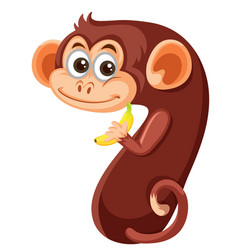 Cute monkey number seven character vector