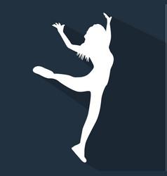 dancing people flat silhouette vector image