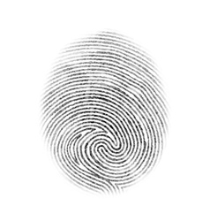 Fingerprint Isolated vector
