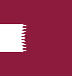 flag of qatar national symbol of the state vector image