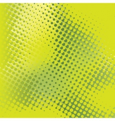 green abstract background with halftone vector image vector image