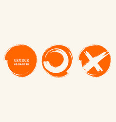 grunge circle shapes abstract vector image