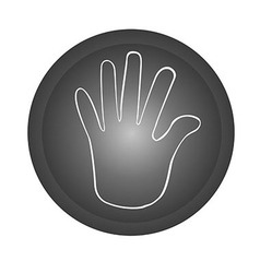 hand stop button vector image