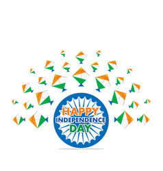 happy independence day of india vector image