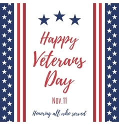 Happy veterans day background vector