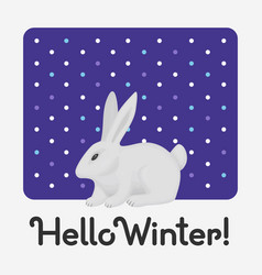 hello winter holiday card with an inscription with vector image
