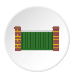 Home fence icon circle vector